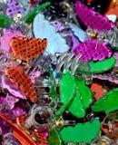 Fotografia colorida dos grampos de cabelo Imagem de Stock