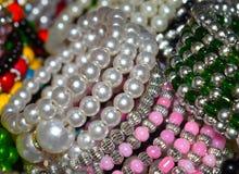 Fotografia Colourful del fondo dei braccialetti Fotografia Stock