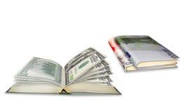 Livros do negócio Fotografia de Stock Royalty Free