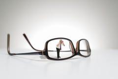 Fotografia concettuale dei vetri a grandezza naturale Fotografia Stock
