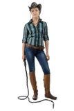 Fotografia cowgirl z batem Fotografia Stock