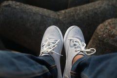 Fotografia creativa delle scarpe Fotografia Stock Libera da Diritti