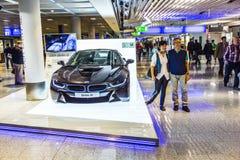 Fotografia czarne BMW serie i8 Zdjęcie Stock