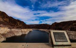Fotografia da barragem Hoover, Nevada - Arizona imagens de stock