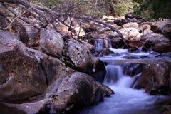 A fotografia da paisagem de Great Smoky Mountains no crepúsculo fotos de stock royalty free