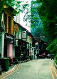 Fotografia da rua em Singapura Fotos de Stock Royalty Free