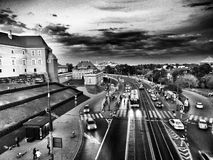 Fotografia da rua Olhar artístico em preto e branco Foto de Stock Royalty Free