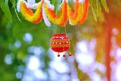 Fotografia dahi handi na gokulashtami festiwalu który jest władyki Shri Krishna ` s narodziny dniem w ind, fotografia royalty free