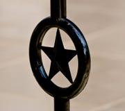 Fotografia de alumínio do fundo do objeto da forma da estrela Fotografia de Stock Royalty Free