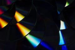 Fotografia de cores em um macro do disco compacto foto de stock royalty free