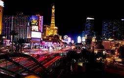 Fotografia de noite longa de Las Vegas Exporure imagens de stock