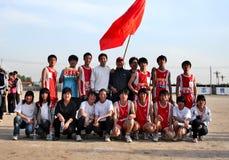 Fotografia del gruppo degli atleti dell'allievo Fotografia Stock