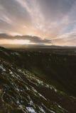 Fotografia del paesaggio di stordimento Islanda Immagine dei cavalli selvaggii di vulcano Dai fiordi ghiacciati alle montagne nev Fotografia Stock Libera da Diritti