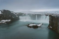Fotografia del paesaggio di stordimento Islanda Viaggiando dai fiordi ghiacciati alle montagne nevose per ghiacciare le lagune Fotografia Stock Libera da Diritti