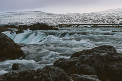 Fotografia del paesaggio di stordimento Islanda Viaggiando dai fiordi ghiacciati alle montagne nevose per ghiacciare le lagune Immagine Stock