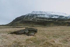 Fotografia del paesaggio di stordimento Islanda Viaggiando dai fiordi ghiacciati alle montagne nevose per ghiacciare le lagune Immagini Stock