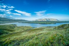 Fotografia del paesaggio di una montagna in Islanda Immagine Stock Libera da Diritti