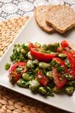 Fotografia dell'alimento dell'insalata della fava Immagine Stock