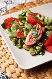 Fotografia dell'alimento dell'insalata della fava Fotografie Stock Libere da Diritti