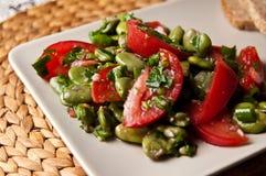 Fotografia dell'alimento dell'insalata della fava Fotografia Stock