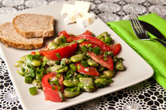 Fotografia dell'alimento dell'insalata della fava Immagini Stock