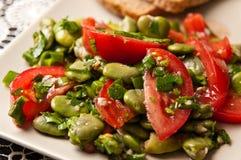 Fotografia dell'alimento dell'insalata della fava Immagine Stock Libera da Diritti