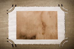 Fotografia dell'annata in vecchio album, invecchiato naturalmente Fotografie Stock Libere da Diritti