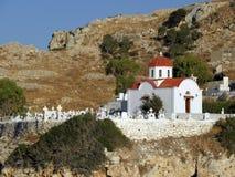 Fotografia dell'aria, isola di Karpathos, Grecia Fotografie Stock