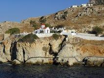 Fotografia dell'aria, isola di Karpathos, Grecia Fotografia Stock Libera da Diritti