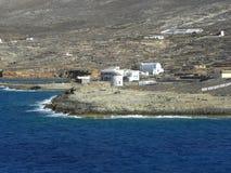 Fotografia dell'aria, isola di Kasos, Grecia Fotografie Stock Libere da Diritti