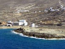 Fotografia dell'aria, isola di Kasos, Grecia Fotografia Stock