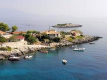 Fotografia dell'aria, isola di Zante, Grecia Fotografie Stock Libere da Diritti