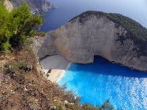 Fotografia dell'aria, isola di Zante, Grecia Fotografia Stock Libera da Diritti