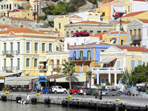 Fotografia dell'aria, Simi Island, Grecia Immagini Stock Libere da Diritti
