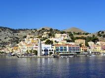 Fotografia dell'aria, Simi Island, Grecia Fotografia Stock Libera da Diritti