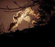Fotografia dell'inquinamento atmosferico fotografia stock libera da diritti