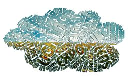 Fotografia della nuvola di parola Immagini Stock Libere da Diritti
