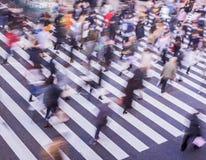 Fotografia della sfuocatura del passaggio pedonale Immagini Stock Libere da Diritti