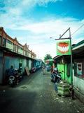 Fotografia della via della città di Balikpapan, Borneo, Indonesia Immagini Stock Libere da Diritti