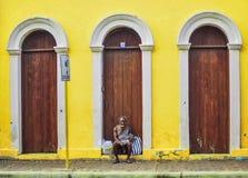 Fotografia della via a Santiago de los Caballeros Immagine Stock Libera da Diritti