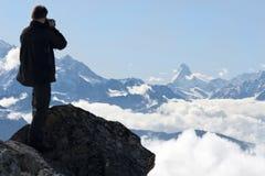 Fotografia delle alpi svizzere Immagini Stock Libere da Diritti