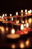 Fotografia delle candele su fondo nero Fotografie Stock Libere da Diritti