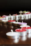 Fotografia delle candele su fondo nero Immagine Stock