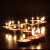 Fotografia delle candele su fondo nero Immagini Stock Libere da Diritti