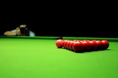 Fotografia delle sfere dello snooker Fotografie Stock Libere da Diritti