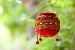 Fotografia di dahi handi sul festival di gokulashtami in India, che è il giorno della nascita del ` s di Lord Shri Krishna immagine stock libera da diritti