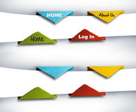 Fotografia di Infographics, insieme dei tasti di origami Fotografie Stock