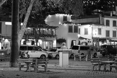 Fotografia di notte nella vecchia città del auf Madera di Funchal fotografia stock