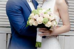 Fotografia di nozze dello studio Fotografie Stock Libere da Diritti