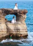 Fotografia di nozze di nuove coppie sposate Immagine Stock Libera da Diritti
